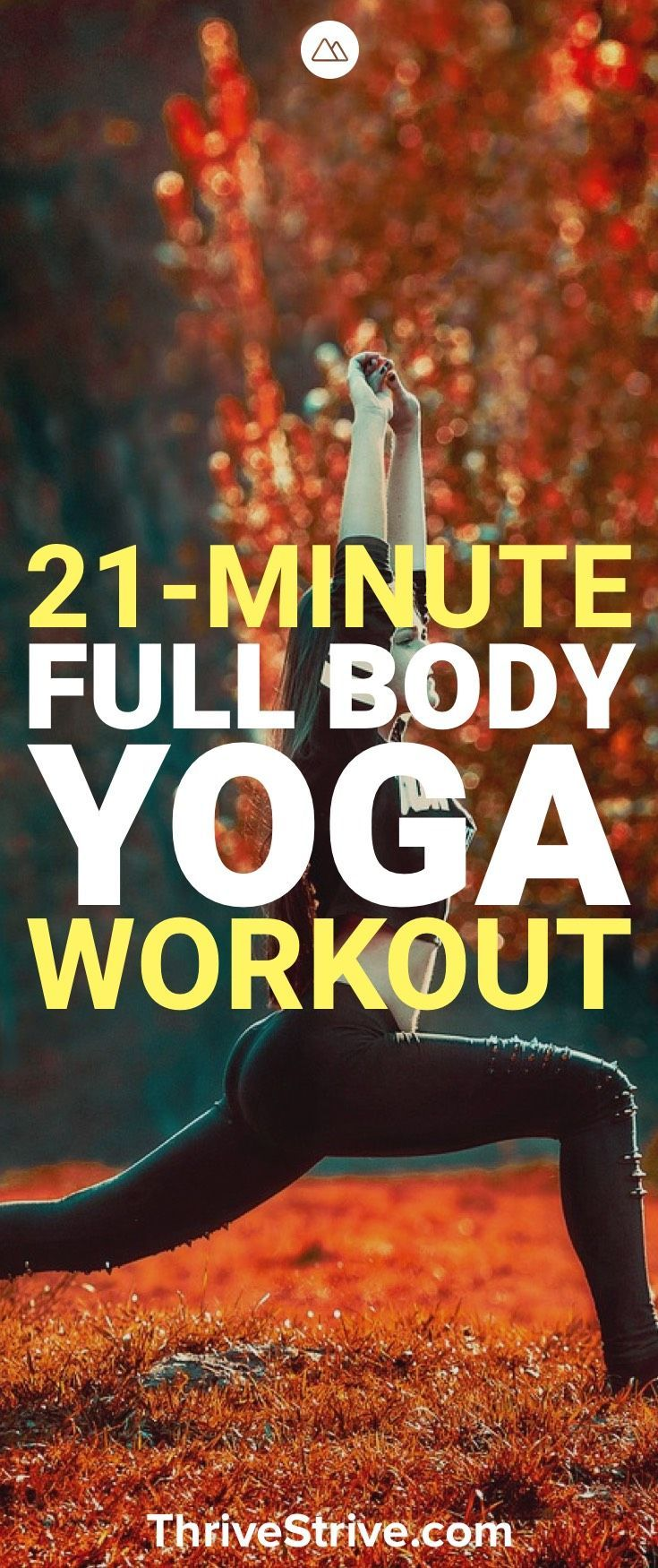 Here is a 21-minute full body workout that is great yoga for beginners. It is al...