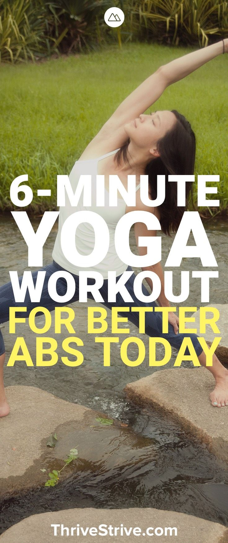 Yoga can be a great way to develop awesome abs. This 6 minute yoga workout targe...