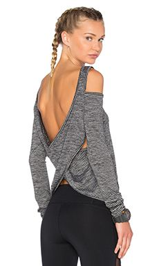 Body Language Razor Pullover in Grey Stripe