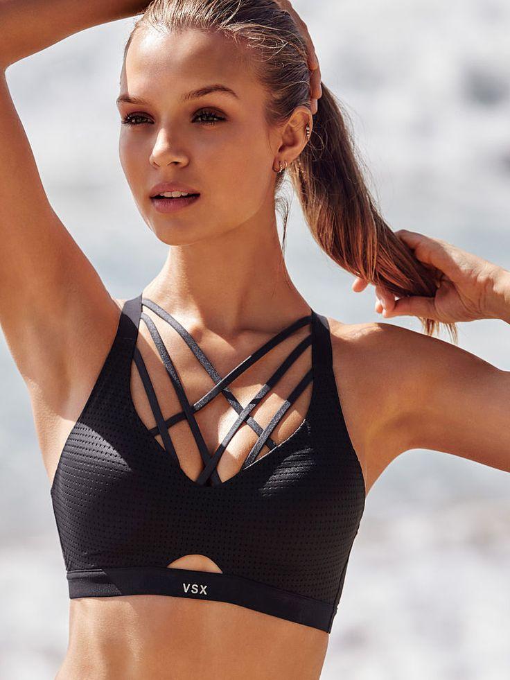 ♡ Women's Victorias Secret Sports Bra black | Fitness Apparel | Must have Work...