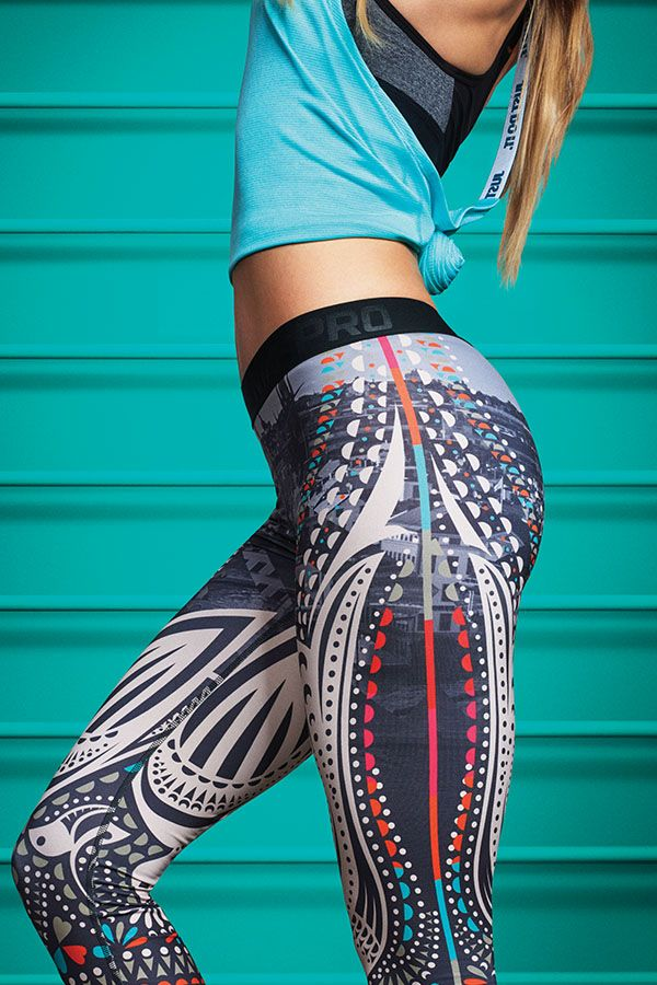 A truly unique tight to elevate your next workout. Celebrate the global energy o...