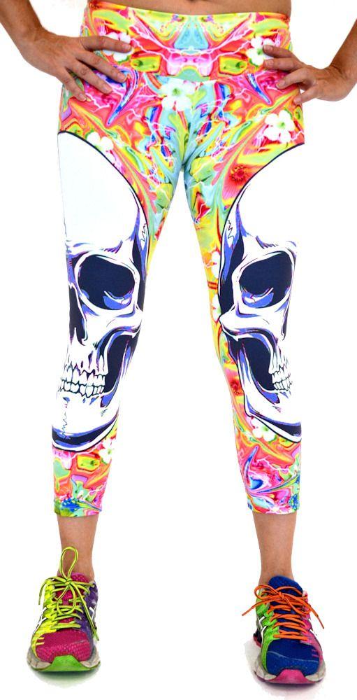 Big Skulls Capri by Shape UP Activewear at San Diego Fit.com