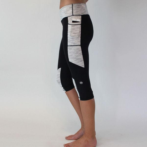 Maria Capris - Black Compression fit and 3 total pockets! Only $36 from www.seni...