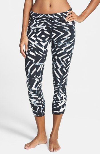 Omgirl 'Ahisma' Organic Cotton Capris available at Yoga Wear   Yoga Pants   Yoga...