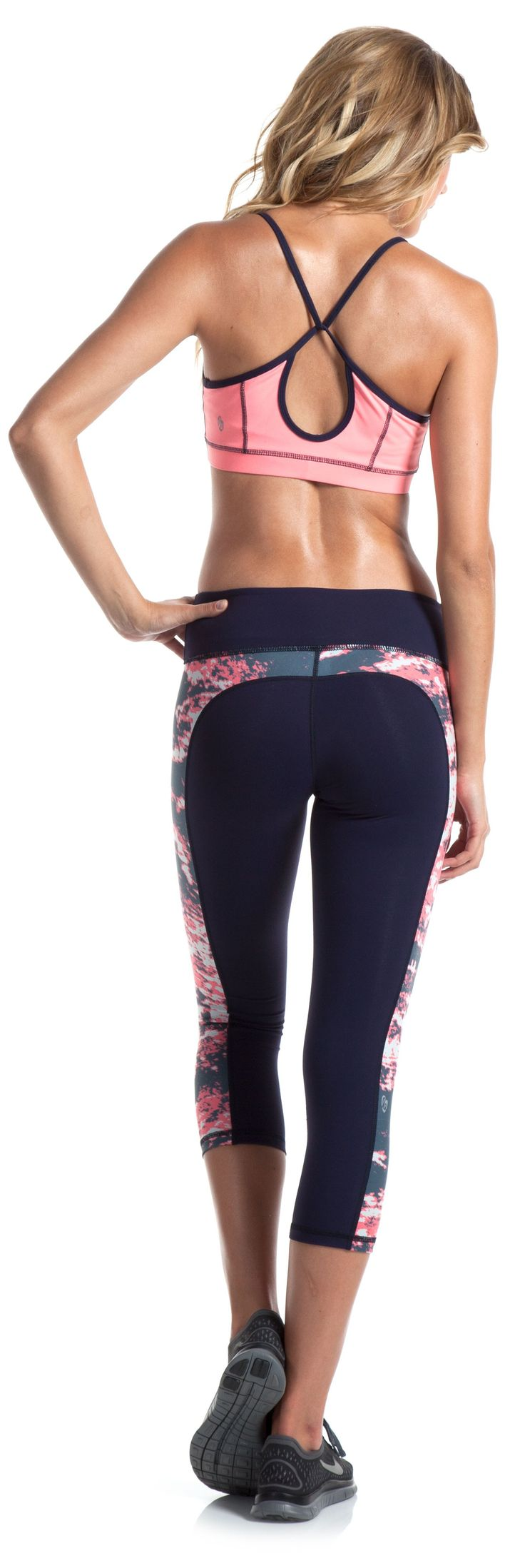 Workout pants with a floral twist
