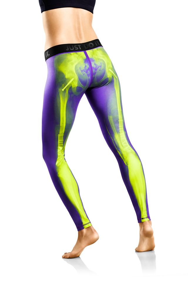 X-Ray Bones Athletic Tights For Women by Nike