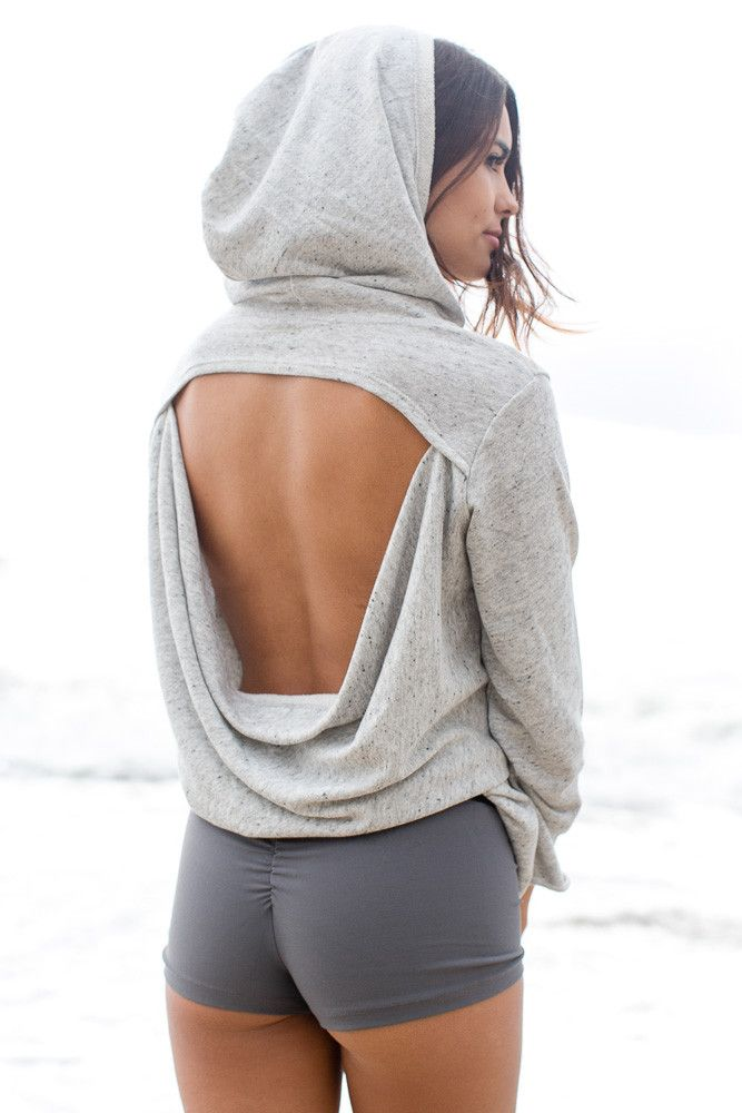 open back hoodie by BLUE LIFE FIT www.fitnessappare...