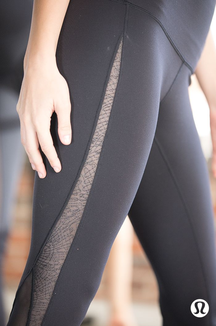 Inhale, exhale—lululemon yoga gear designed with Mesh fabric details for breat...