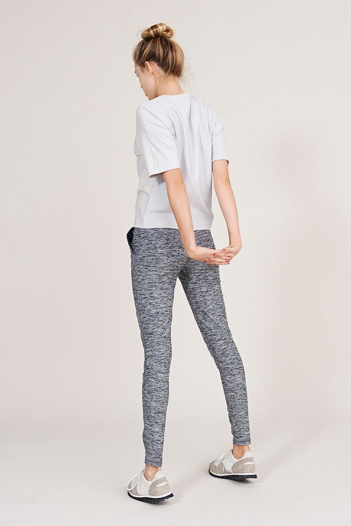 Outdoor Voices Running Woman Sweats in Heathered Ash Grey