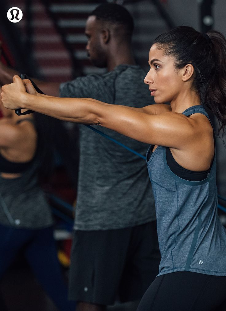 Push through the resistance in lululemon technical gear.