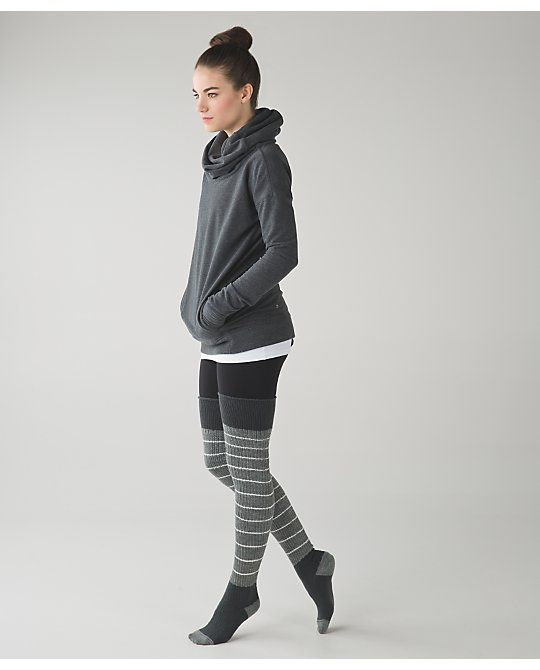 Savasana Sock: layer these cozy socks over tights to keep warm in Savasana or on...