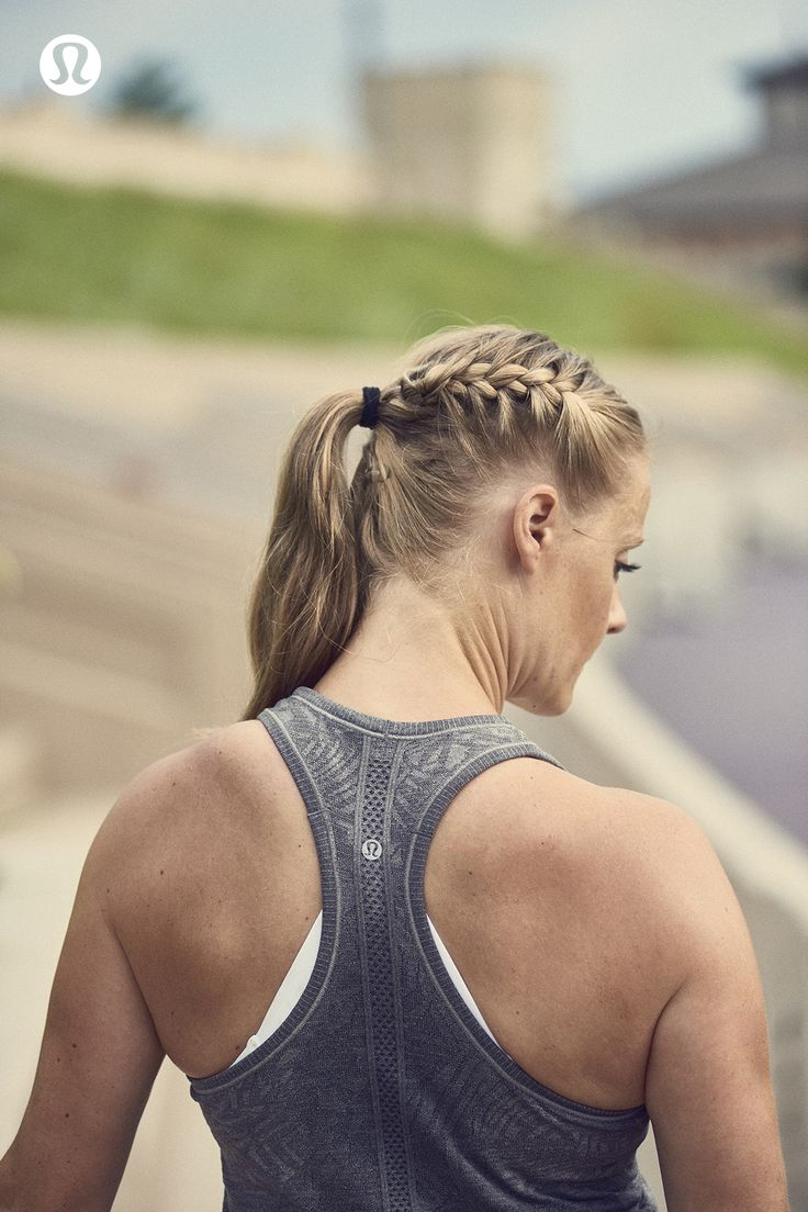 Side braid so your hair is out of the way when things get sweaty.