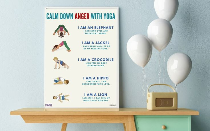 5 Simple Ways to help Children Calm Angry Feelings with Yoga (Free Printable) vi...