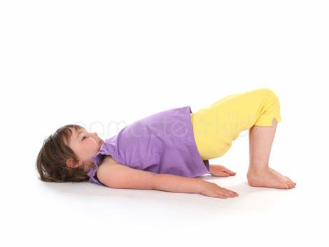 Bridge Pose (Setu Bandha Sarvangasana) on Namaste Kid