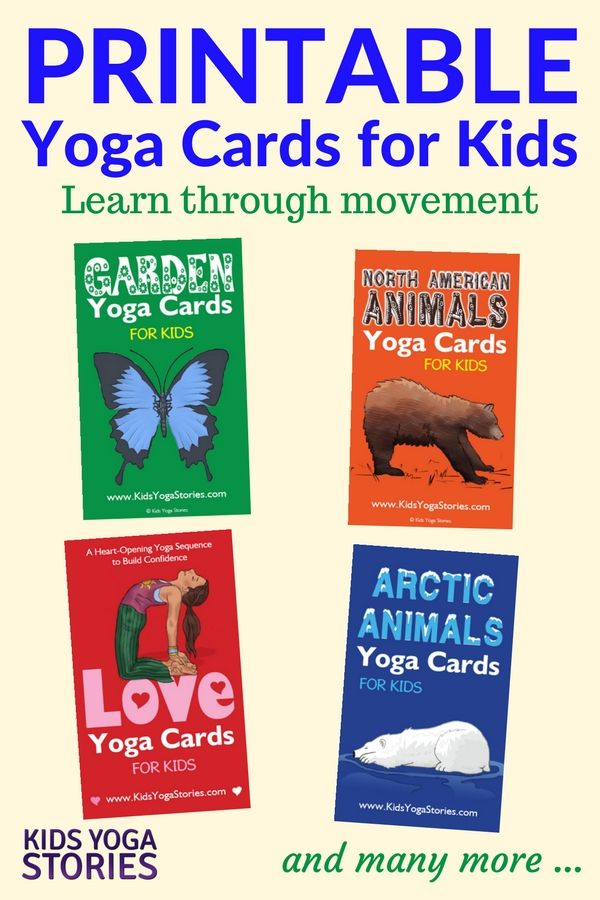 Collection of Printable Yoga Cards for Kids for your classroom, homeschool, or s...