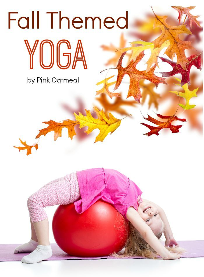 Fall Themed Yoga - Pink Oatmeal