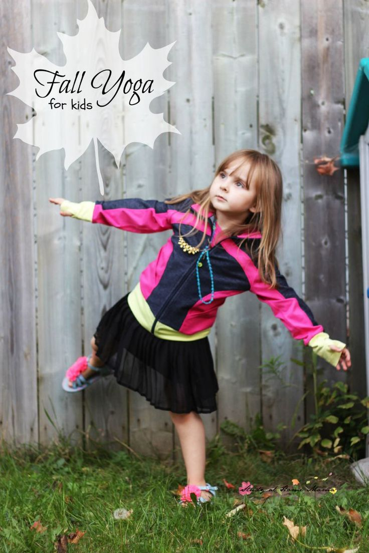 Fall Yoga for Kids - safe yoga poses for kids inspired by the season. A rewardin...