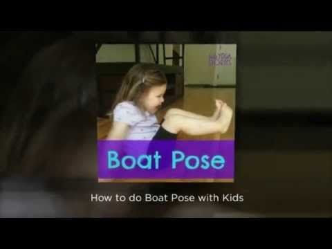 How to do Boat Pose with Kids video | Kids Yoga Stories