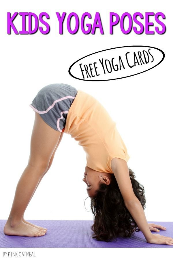 Kids yoga cards for FREE!  I love how cute the kids yoga poses are and how there...