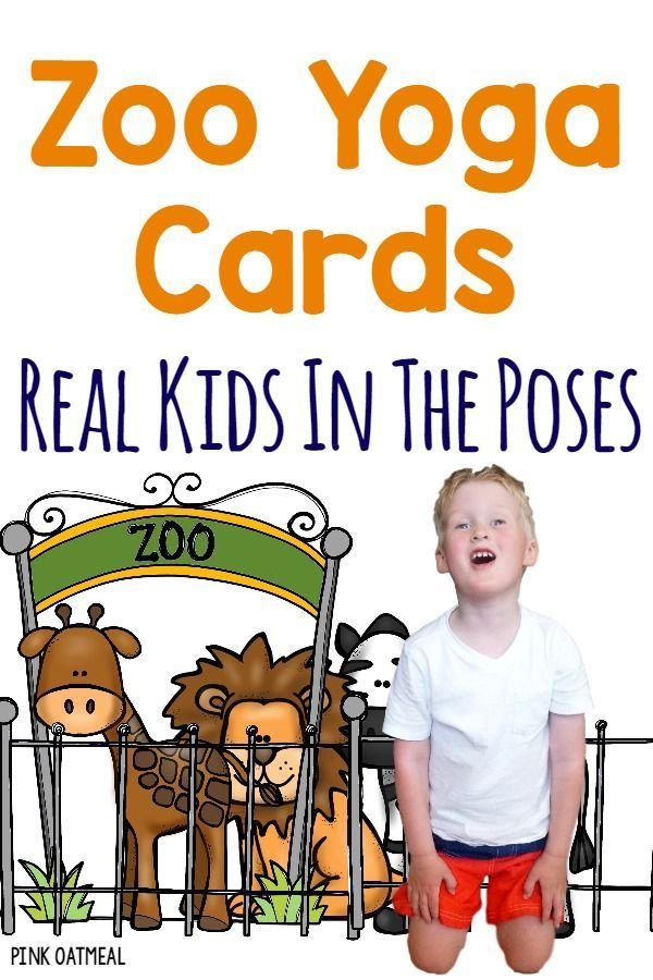 Yoga Poses Kids Yoga Cards With A Zoo Theme I Love How There Are Real Kids Doing The Yoga About Yoga Blog Home Of Yoga The Zen Way Of