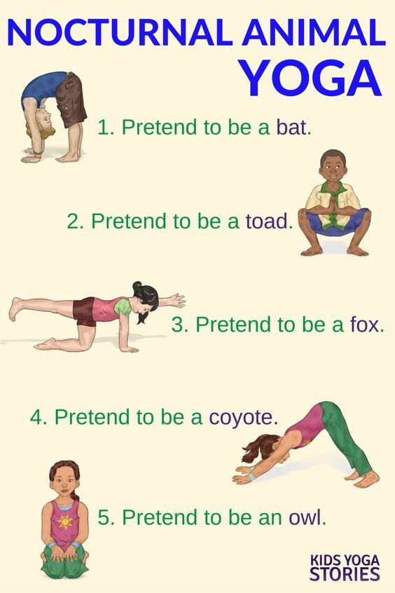 Yoga Poses Learn About Nocturnal Animals Through Yoga Poses For Kids Kids Yoga Stories About Yoga Blog Home Of Yoga The Zen Way Of Teaching Yoga Online