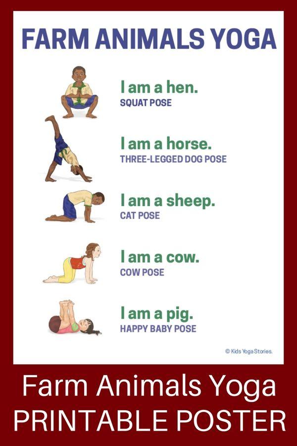 Learn about farm animals through yoga poses for ki…