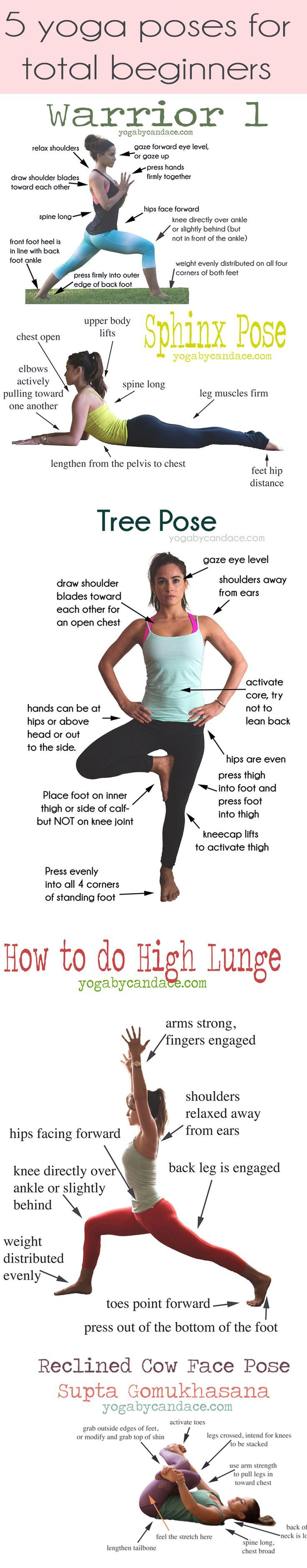 Pin now, practice later! 5 yoga poses for total beginners. Come chat on the foru...