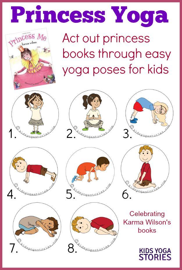Princess Yoga: act out princess books through easy yoga poses for kids   Kids Yo...