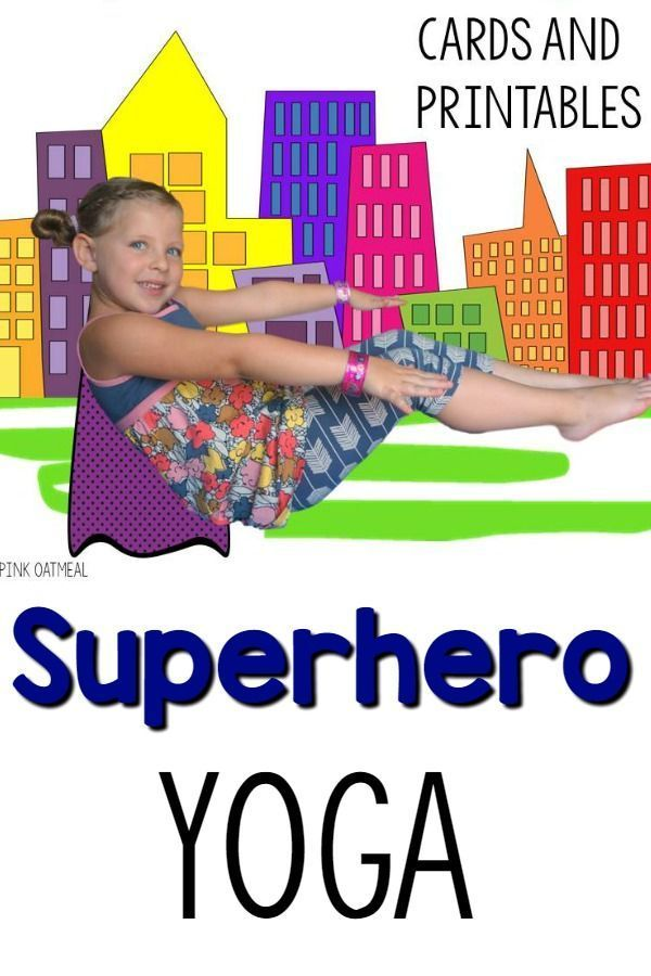 Superhero Themed Yoga Cards and Printables - Fun yoga pose ideas!  My superheros...