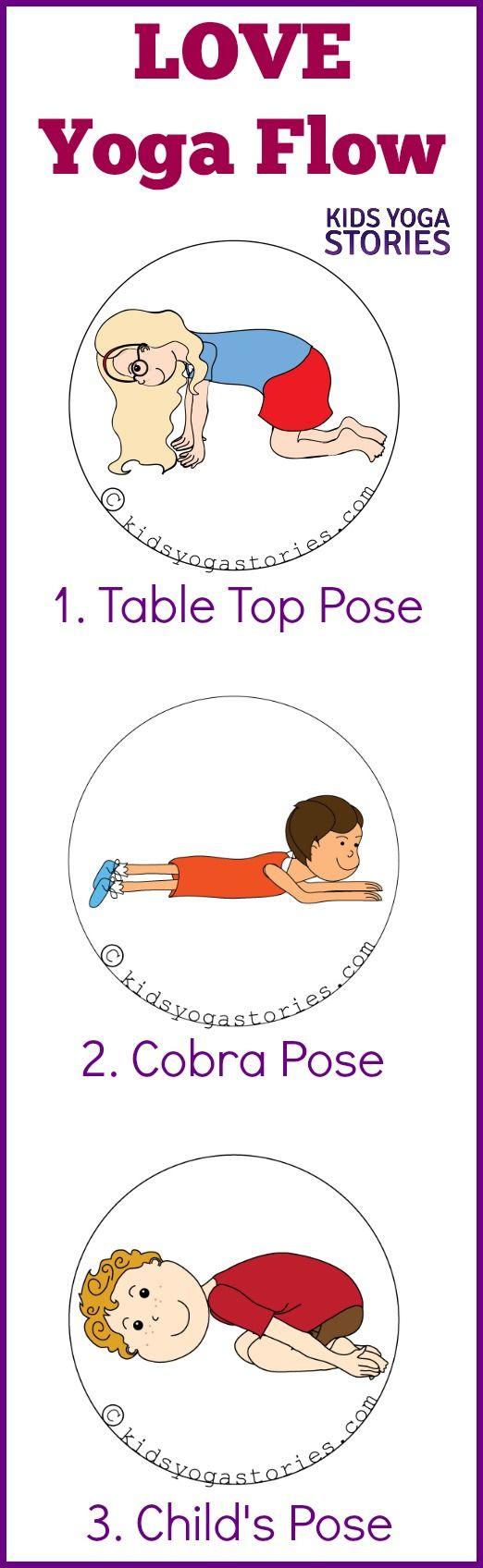 Three yoga poses to create a