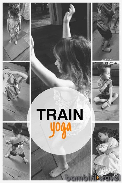 Train Yoga | Bambini Travel:  a yoga series based on the jobs that people do on ...