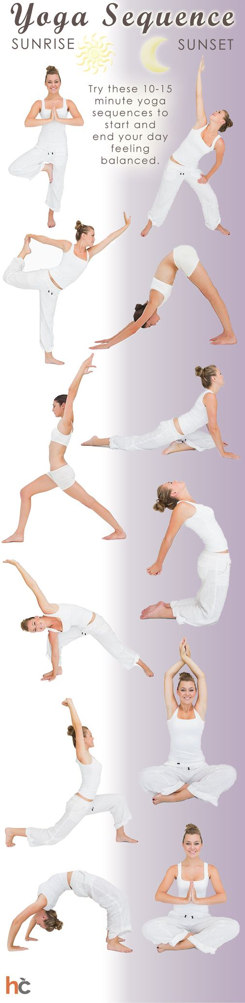 Try these 10-15 minute #yoga sequences to start and end your day feeling balance...