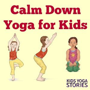 Try these five yoga poses for kids as a calm down strategy to help children cope...