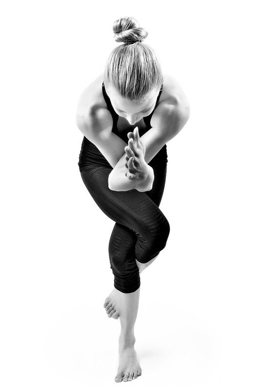 Garudasana ~ Eagle Pose ~ This is a great yoga pose to cultivate focus as you dr...