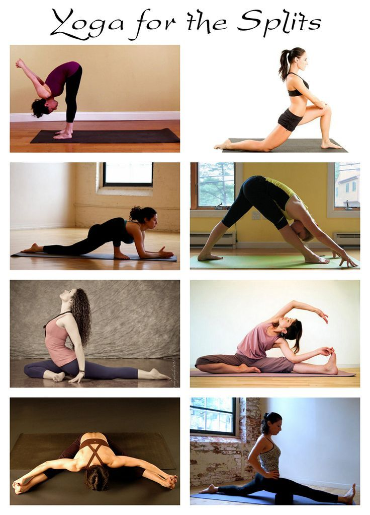 Yoga poses to warm up for the splits