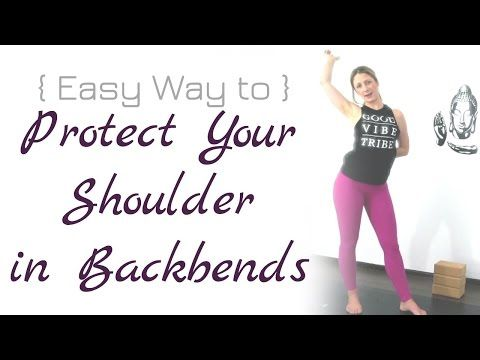 ✨ Easy Way to ✨ Protect Your Shoulders in Backbends - YouTube