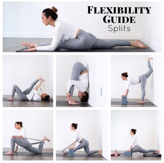 Be inspired by this flexibility splits yoga poses. #yoga #yogaeverydamnday #yoga...
