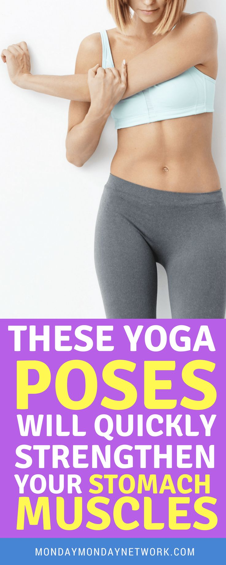 Practice these great yoga poses and this will tone up those tummy muscles!