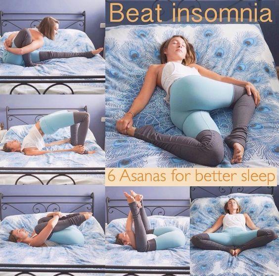 Try this Asanas poses to get a better sleep. #yoga #yogaeverydamnday #yogalove #...
