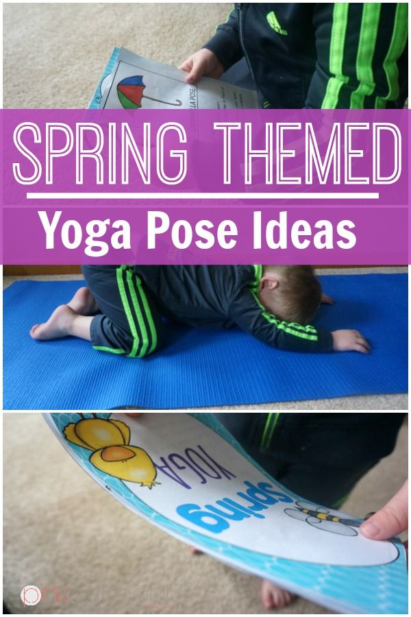 Yoga Poses With A Spring Theme, Pose Like A Butterfly or Flower! Spring themed y...