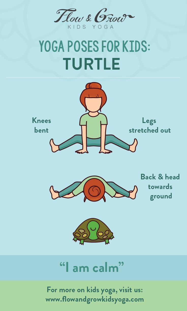 Yoga Poses for Kids: The Turtle Pose. Inspired by the patient turtle, this pose ...