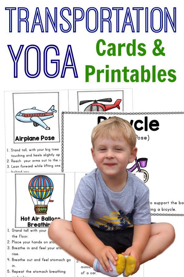 Yoga with a transportation theme!  Kids yoga where they do transportation relate...