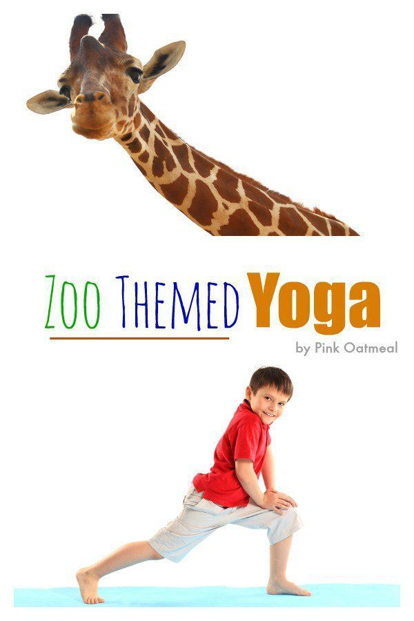 Zoo Yoga Ideas. I love all the different yoga pose ideas for things you see at t...