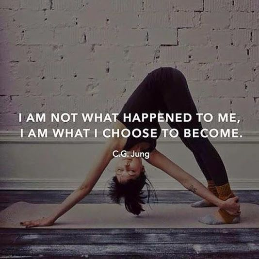 """I am not what happened to me. I am what I choose to become"" #quote #forrest..."