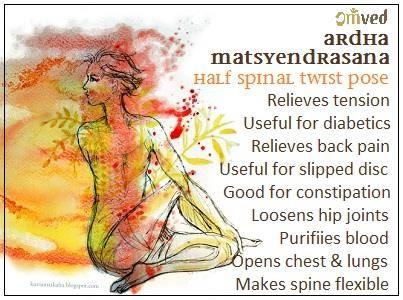 Ardha Matsvendrasana - Half Spinal Twist Pose #omvedyoga