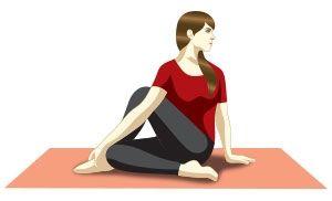 Ardha Matsyendrasana (Sitting half spinal twist)