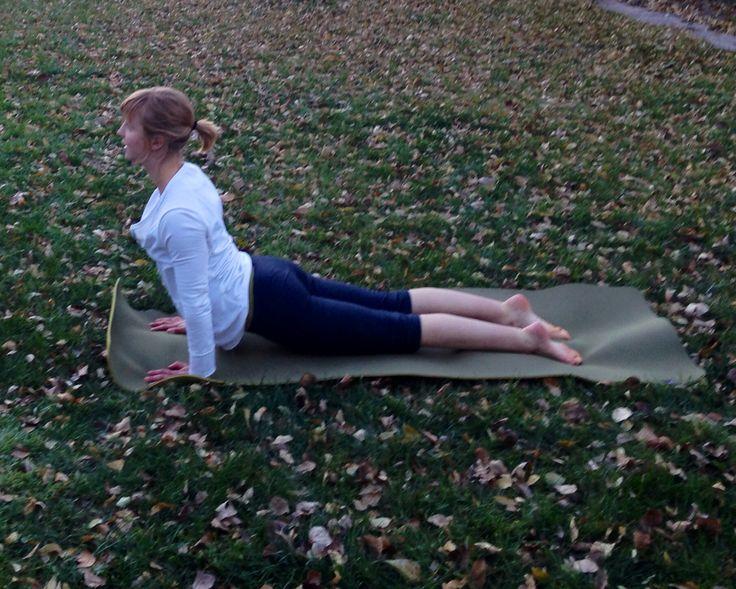 Backyard yoga