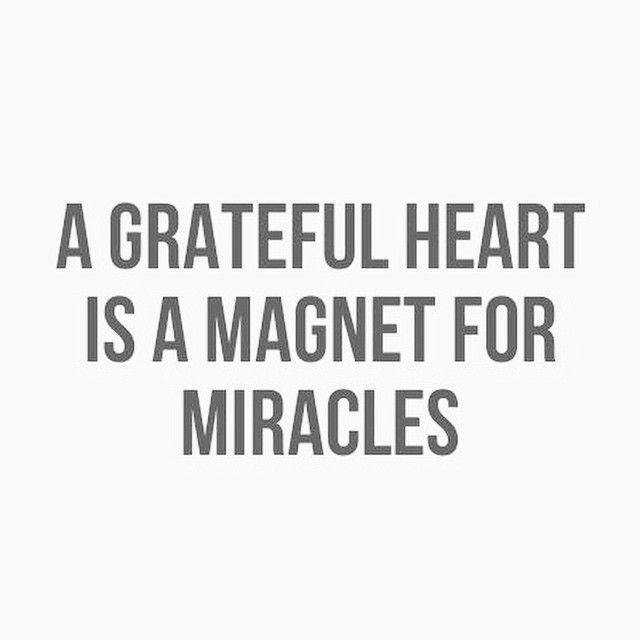 Be intentional and habitual with your gratitude.