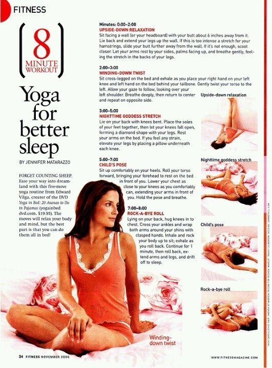Bedtime Yoga. The words are small on this website but it really works. Wait unti...