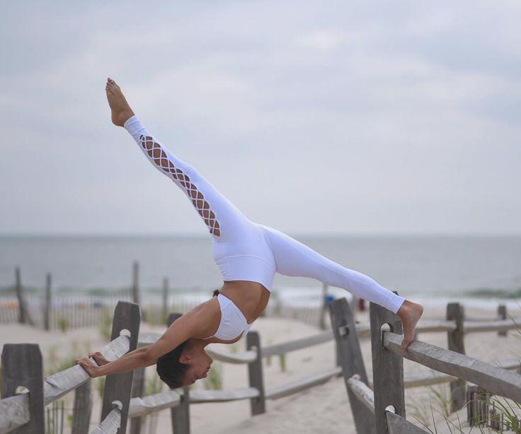Gabriella Dondero is featured in the #AloYoga Interlace Legging #yoga #inspirati...